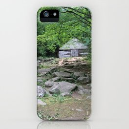 A Smoky Mountain Barn in the Woods iPhone Case
