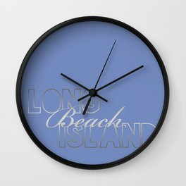 Long Beach Island Wall Clock