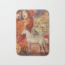 Gray Horse Bath Mat