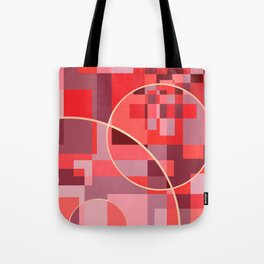 Abstract overlapping art Tote Bag