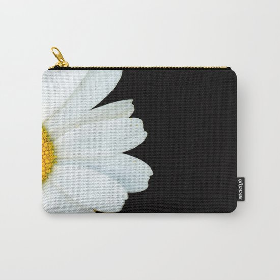 Hello Daisy - White Flower Black Background #decor #society6 #buyart by pivivikstrm