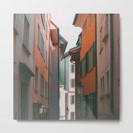 Zurich Alley IV Metal Print