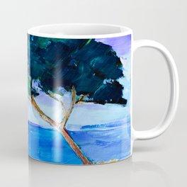 Cypress by the sea Coffee Mug
