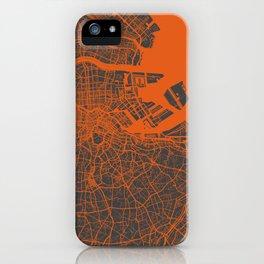 Tokyo Map #2 map orange iPhone Case