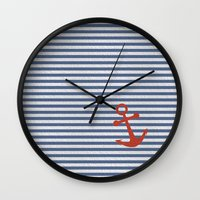 sailor Wall Clocks featuring sailor by zakumy