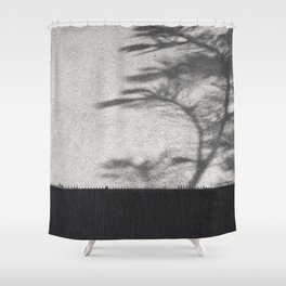 Grey Tree Branch Shadows and Texture Shower Curtain
