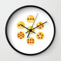 dragonball Wall Clocks featuring Dragonball by matcha-tiger