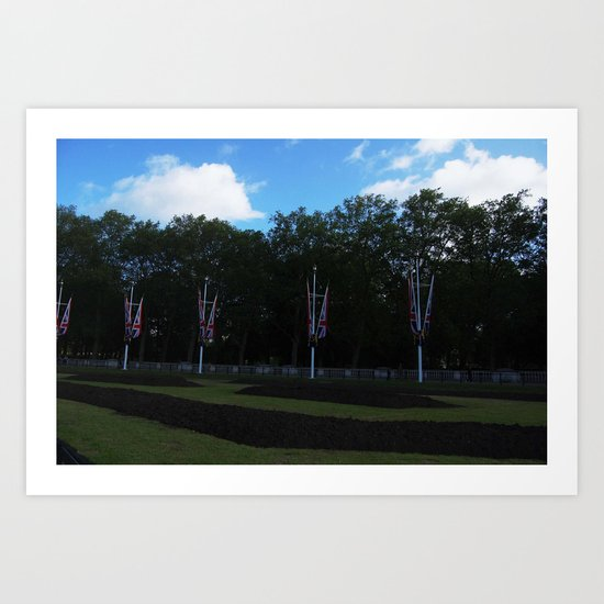 Flags on The Mall Art Print