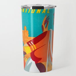 Air-India International - Vintage Airline Poster Travel Mug