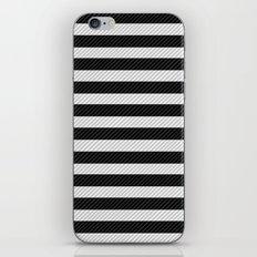 Sleepy Black and White Stripes iPhone & iPod Skin