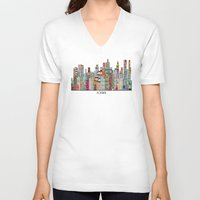 montreal V-neck T-shirts featuring montreal by bri.buckley