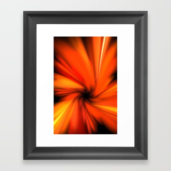 Making a Smoothie (Orange) Framed Art Print