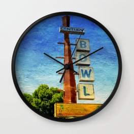 Century Bowl - Merced, CA Wall Clock