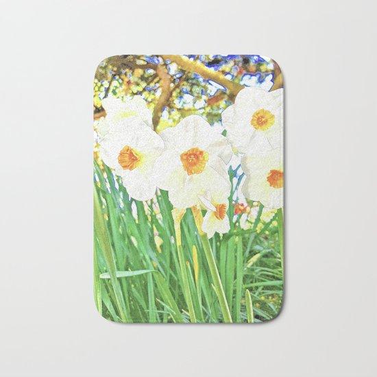 Bright Spring Narcissus Bath Mat