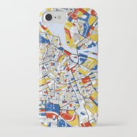 amsterdam iPhone & iPod Cases featuring Amsterdam by Mondrian Maps