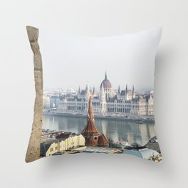 The Parliament Building. Throw Pillow