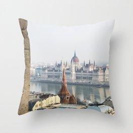 The Parliament Building. Throw Pillow