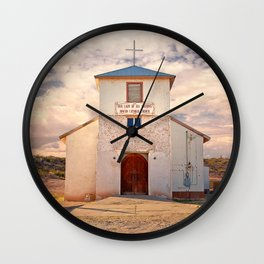 Country Church - Rincon, New Mexico, Our Lady of All Nations Wall Clock