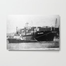 MSC Alabama ship b&w Metal Print