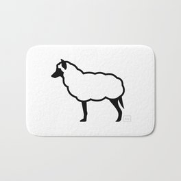 The Wolf in Sheep's Clothing Bath Mat