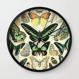 Adolphe Millot Papillons Wall Clock