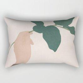 Holding the Branch Rectangular Pillow