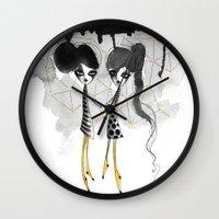 gemini Wall Clocks featuring Gemini by Dnzsea