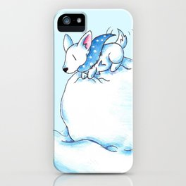 A Fluffball on a Snowball iPhone Case