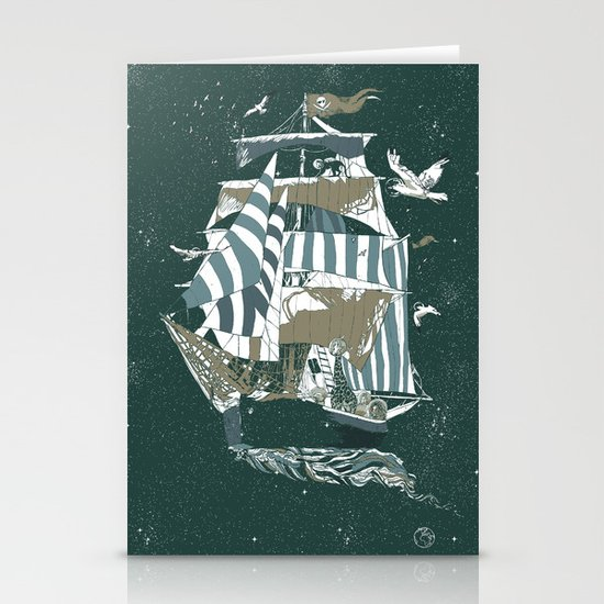 Sail to The Moon Stationery Cards
