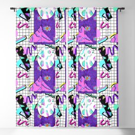 Trapper Keeper 80s Crazy Grid Design Blackout Curtain
