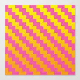 Yellow Orange and Pink Pattern Canvas Print