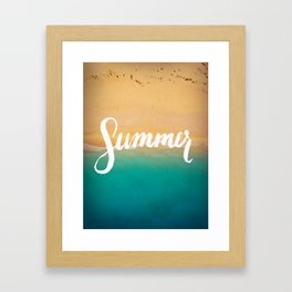 Summer Handletter Framed Art Print