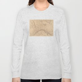 Vintage Map of Haverhill MA (1909) Long Sleeve T-shirt