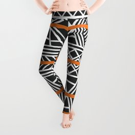 Tribal ethnic geometric pattern 022 Leggings