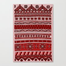 Yzor pattern 005 red Canvas Print