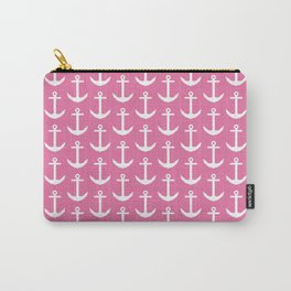 Pink Anchor Pattern - Girl Nautical Carry-All Pouch