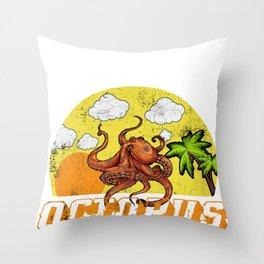 Octopus Squids Calamari Octopoda  Cuttlefish Gift  Throw Pillow
