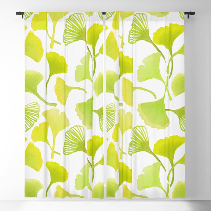 First Day of Autumn Ginkgo Leaves Blackout Curtain
