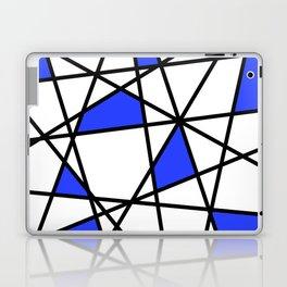 Geometric Modern triangles - white blue Laptop & iPad Skin