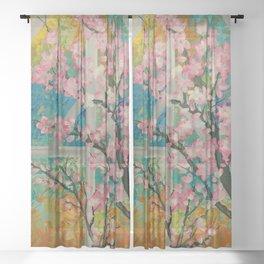 Prunus serrulata Sheer Curtain