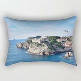 Taking Flight over Dubrovnik Rectangular Pillow