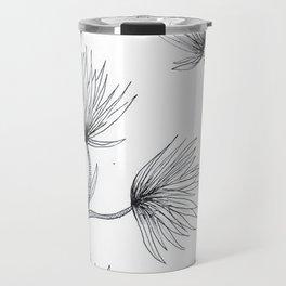 Flower Sketch Travel Mug