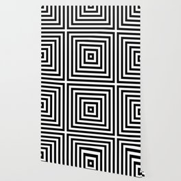 Simple Geometric Cross Pattern - White on Black - Mix & Match with Simplicity of life Wallpaper