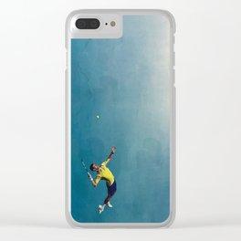 Novak Djokovic Tennis Serving Artsy Clear iPhone Case