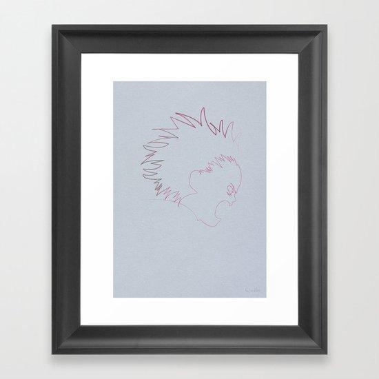 One Line Akira: Tetsuo Shima (specimen 41) Framed Art Print