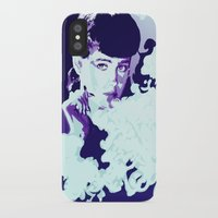 blade runner iPhone & iPod Cases featuring RACHAEL // BLADE RUNNER by mergedvisible