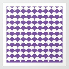 Purple Clamshell Pattern Art Print