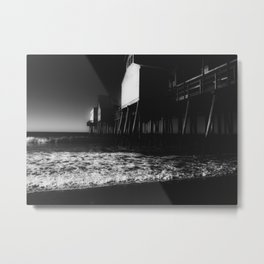 Old Orchard Beach Noir Metal Print