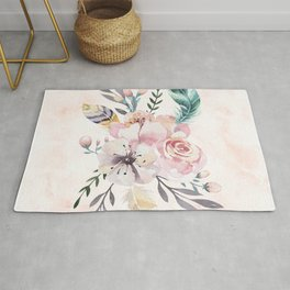 Forest Floral Pink by Nature Magick Rug