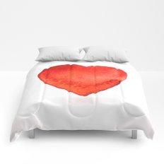 Watercolor heart Comforters